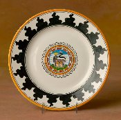 Il Palio  Dinner Plate, She Wolf
