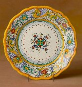 Deruta, Italy Patterns, Raffaellesco, Dinner Plate