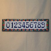 Creazione Luciano - Number tile 2 x 6 inches