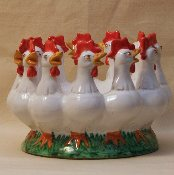 "Rooster Center Table Bowl 12x6""h"