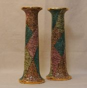 "Candlestick w/18k Gold Trim 12""h, Montelupo, Italy"