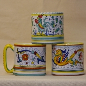 Mug 16 oz., Orvieto Green, Ricco & Raffaellesco patterns