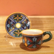 Classic Geometry, Espresso Cup and Saucer