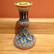 "Classic Geometry by Eugenio Ricciarelli, Candlestick, 8""h"