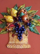 MOD Wall Basket Fruit Relief, 12x12 inches