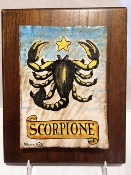 Scorpio Astrological Tile on wood 8x10""