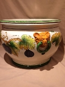 "Fig planter w/Lion handles - 22 x 13""h - Italy"