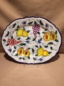 "Oval Serving Platter 13x17"", Deruta, Italy"