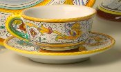 MOD Deruta, Italy Patterns, Cup and Saucer
