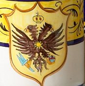 Il Palio, Dinner Plate, Two Headed Eagle