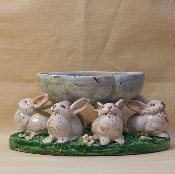 "Rabbit Candy Bowl, 7x10x5""h (Special order)"