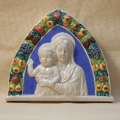 Della Robbia Mother and Child 7x8""