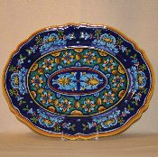Classic Geometry, Oval Serving Platter 11x15""