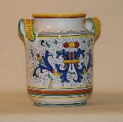 "Deruta, Italy, Utensil Holder 5x8""h"