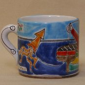 "De Simone Fishing Mug, 3x4""h"