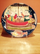 "Susanna De Simone Plate 10"" - Sailboat Out of stock"
