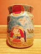 "Utensil Holder-Orange Harvest 6x8""h (Special order)"