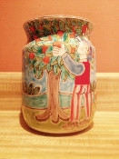 "De Simone, Vase/Utensil Holder - Orange Harvest 6x8""h"