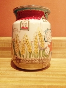 "De Simone Utensil Holder - Wheat Harvest 6x8""h (Out-of-stock)"