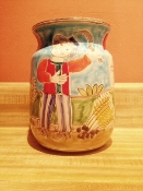 "De Simone, Vase/Utensil Holder - Wheat Harvest 6x8""h"