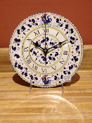 Clock - Oriveto Blue Pattern 10""
