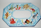 Octagonal Tray 8 x 12 inches - Pesci Pattern