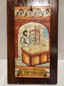 "MOD Pharmacist Tile on wood 9x15"", Deruta, Italy"
