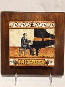MOD The Pianist Tile on wood, 9x9""