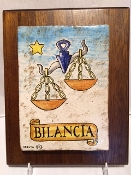 Libra Astrological Tile on wood 8x10""