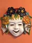 "Patio Spring Wall Mask  - 8 x 8"", Deruta, Italy"