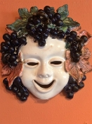 "Patio Autumn Wall Mask  - 7 x 7"", Deruta, Italy"