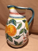 Deruta, Italy Patterns, Agrumi Pitcher 2-qt