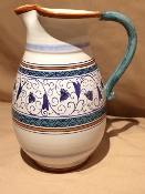 Deruta, Italy Patterns, Penny Pitcher 2-qt