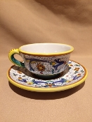 MOD Cup & Saucer - Ricco Pattern - Deruta, Italy