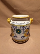 "Utensil Holder - Raffaellesco pattern 7x7"" -  Deruta, Italy"