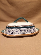 MOD Butter Dish - Penny Pattern, Deruta, Italy