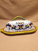 MOD Butter Dish - Ricco Pattern, Deruta, Italy