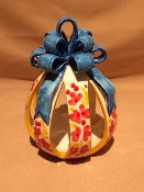 "Mari Large Decorative Candle Votive w/Bow 6x6x7""h"