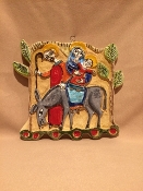 "De Simone Flight from Egypt Wall Hanging 8x8""(Out-of-stock)"