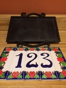 Decorative Steel Number frame - 9 x 10 inches