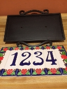 Decorative Steel Number frame - 9 x 12 inches