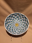 "Bowl 8"" -Pavone (Peacock) Pattern-Deruta, Italy (Special Order)"