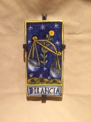 Astrological Tile - Libra 4x8""
