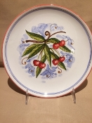 "MOD Fruit Wall Plates 10"" Cherries - Deruta, Italy"