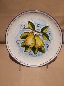"MOD Fruit Wall Plates 10"" Pears - Deruta, Italy"