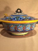 "Classic Geometry by Eugenio Ricciarelli, Soup Tureen 11x14x9""h"