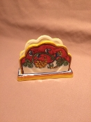 Deruta, Italy Patterns,  Coral Napkin Holder