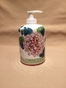 Deruta, Italy Patterns,  Ortensia (Hydrangea) Lotion Dispenser