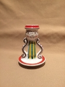"Candlestick Holder 3x4.5""h - Palermo, Italy"