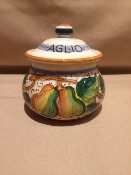 Mari - Garlic Jar - Miele pattern 3-1/2x4h
